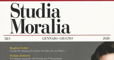 Studia Moralia 2020 • online l'editoriale del I fasciolo