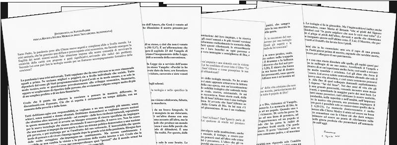 papa Francesco a Studia Moralia